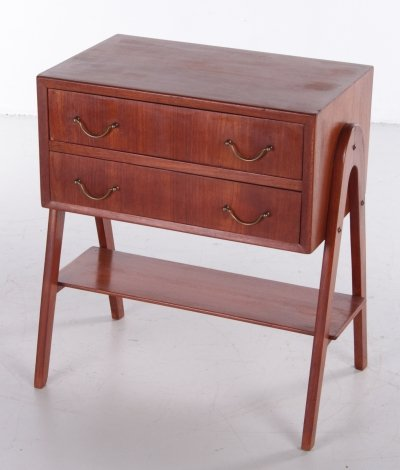Side table with 2 drawers, 1960s