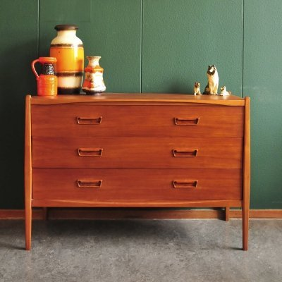 Vintage Belgian chest of drawers with oval shapes