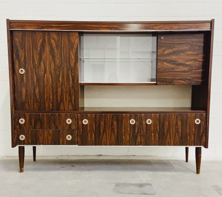 Vintage Highboard with glass
