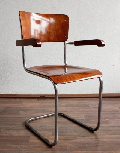 S43F dining chair by Mart Stam for Thonet, 1930s