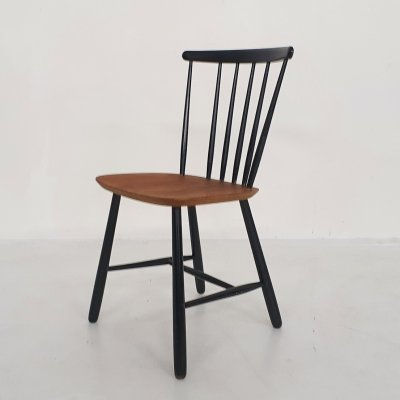 Pastoe spindle back dining chair, The Netherlands 1950's