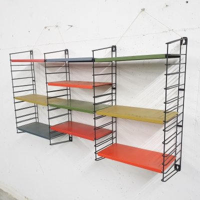 Metal book shelves by Tomado Holland, 1950's