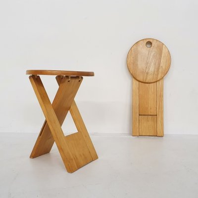 Set of two Adrian Reed for Princes design works 'Suzy' stools, U.K. 1980's