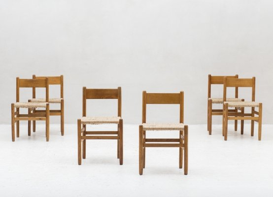 Set of 6 dining chairs by Johan Van Heuvel for AD Vorm, 1957