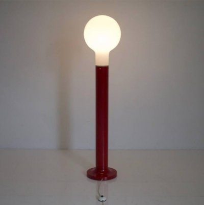 Floor Lamp with Glass & Metal Base by Kaiser, Germany 1970s