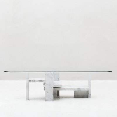 Coffee table by Willy Ballez, Belgian design 70's