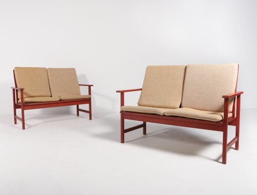 Pair of Danish Mid-Century Modern sofa/benches model 2259 by Borge Mogensen for Fredericia Stolefabrik, 1960s