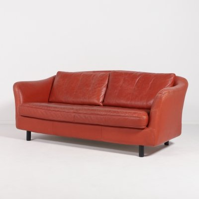 Swedish Vintage leather sofa from DUX, 1970's