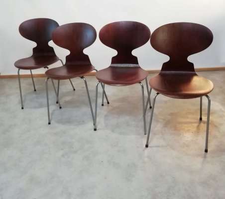 Set of 4 Ant Dining Chairs by Arne Jacobsen for Fritz Hansen, 1960s