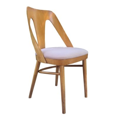 Chair with a plywood backrest TYPE A-1411 FAMEG Bent Furniture Factory, 1960s