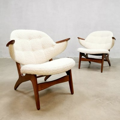 Midcentury vintage design easy chairs by Carl Edward Matthes, 1960s