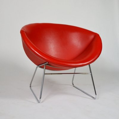 50s Rudolf Wolf Lounge Chair for Rohe Noordwolde