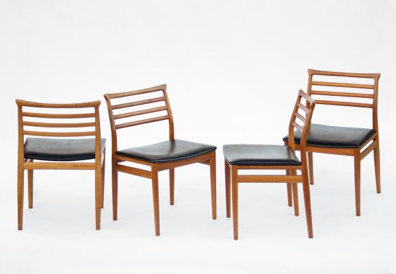 Set of 4 Chairs by Erling Torvits for Sorø Stolefabrik