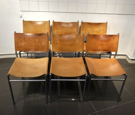 Early Set of 6 'SE06' Dining Chairs by Martin Visser for 't Spectrum, 1960s