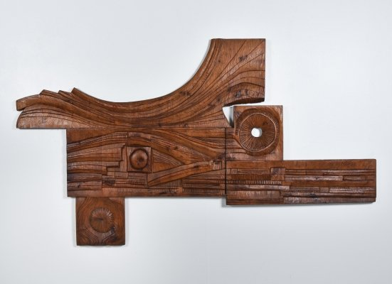 Art Panel hand carved by Nioi, Italy 1973