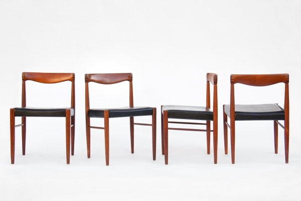 Set of 4 Chairs by H.W.Klein for Bramin, 1960s