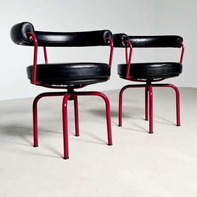 Set of 2 LC7 chairs by Charlotte Perriand for Cassina, 1970s