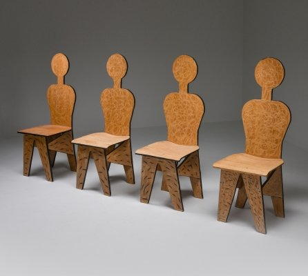 Unusual Artist Chairs, Italy 1980's