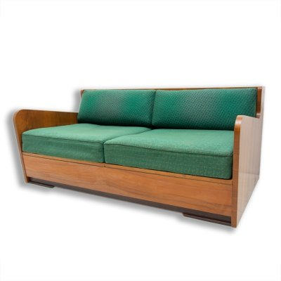 Mid century folding sofabed by Jindřich Halabala, 1950s