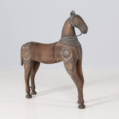 Carved wooden horse, early 20th century