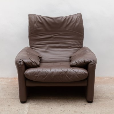 Original 'Maralunga' Lounge Chair by Vico Magistretti for Cassina, Italy 1980s