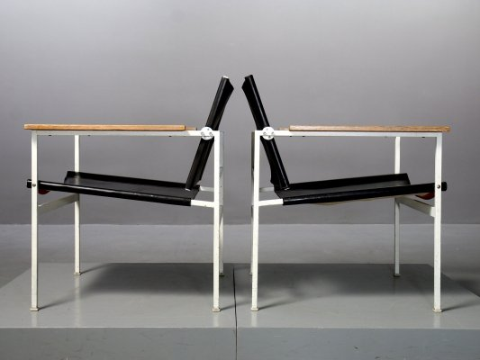 2 x ST 805 lounge chair by Eddie Harlis for Thonet, 1960s