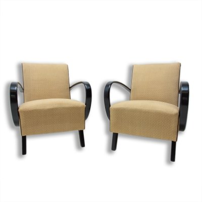 Bentwood armchairs by Jindřich Halabala for UP Závody, 1950s