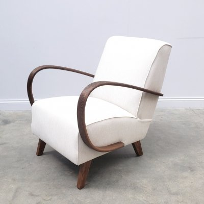 Jindrich Halabala for Thonet Bentwood Armchair in Neutral, 1930s