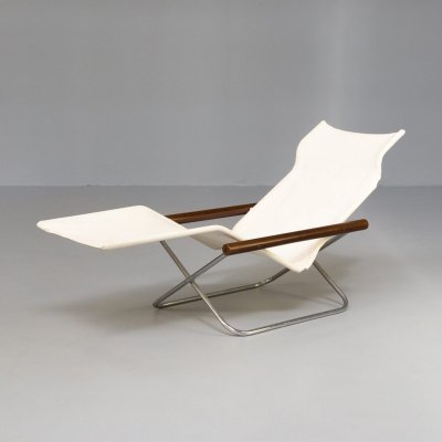 50s Takeshi Nii 'NY Chair X' folding chaise longue for Jox Interni