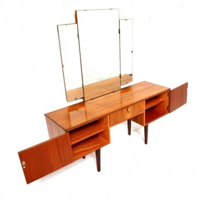 Vintage dressing table with removable & folding mirror, 1960s