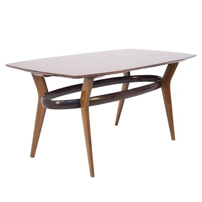 Vintage Dining Table in Fine Italian Wood, 1950s