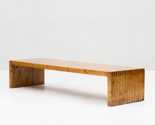 One of a kind XL bench, 1970s