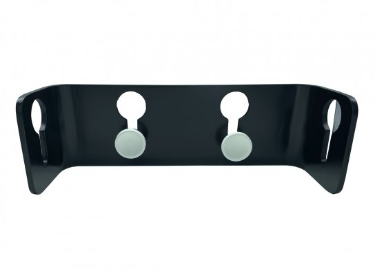 Coat hanger in black lacquered wood & white knobs by Carlo de Carli for Fiarm