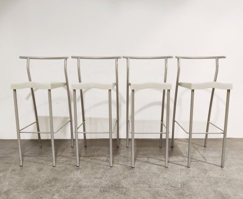 4 high stools 'Hi Glob' by Philippe Starck for Kartell, 1980s