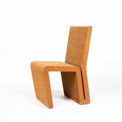Experimental cardboard side chair by Franck Gehry for the Vitra, 1970s