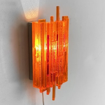 Acrylic wall light/sconce 1001 by Claus Bolby for CEBO industri, Denmark 1970s