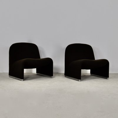 Pair of Alky Chair by Giancarlo Piretti for Anonima Castelli, 1970s
