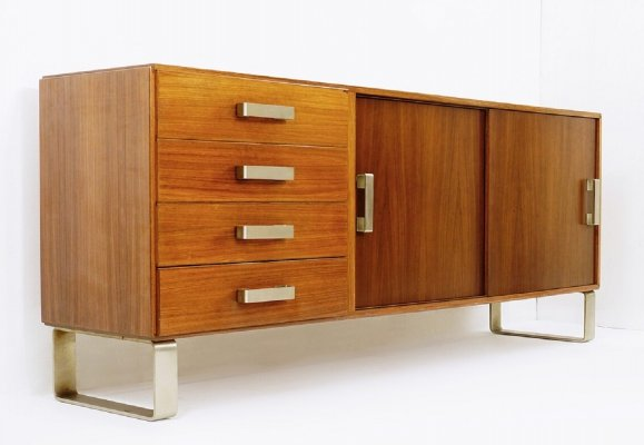 Italian Sideboard With Sliding Doors & Drawers, 1970s