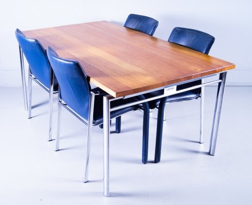 Harvink dining set with Table & 4 dining chairs, 1990s