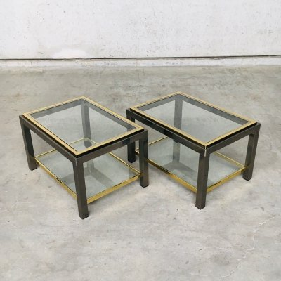 1970's Sofa Ends Two Tier Side Table Set