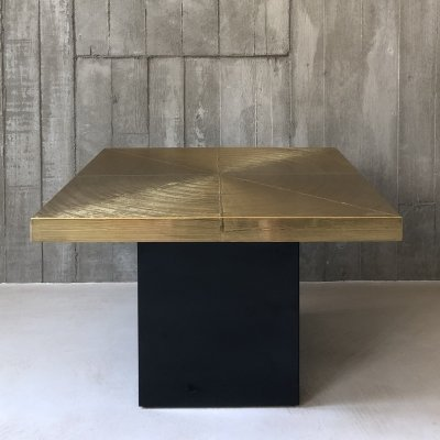 Etched brass coffee table by Lova Creation Belgium