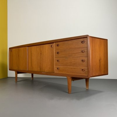 Danish Teak-Sideboard with Drawers by H. P. Hansen, 1960s