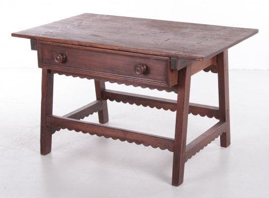 Brutalist Spanish wooden pay table, 1920s