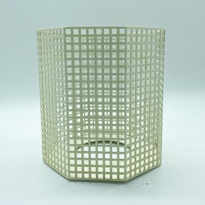 White lacquered metal vase by Josef Hoffmann for Bieffeplast, Italy 1980