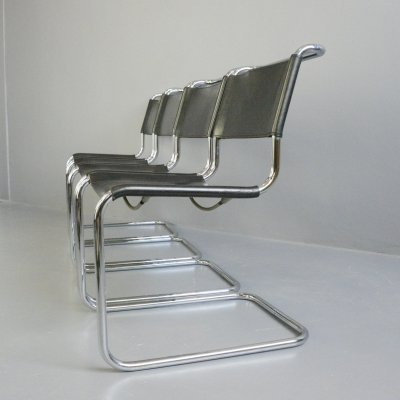 Set of 4 Bauhaus B33 Chairs by Marcel Breuer for Thonet