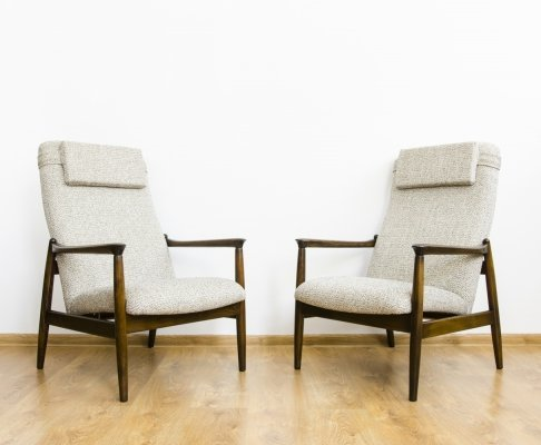 Pair of GFM-64 armchairs by Edmund Homa, 1960's