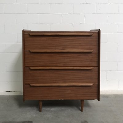Teak wooden closet with four drawers, 1960s