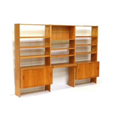 Pine vintage wall unit / wall system, 1970s