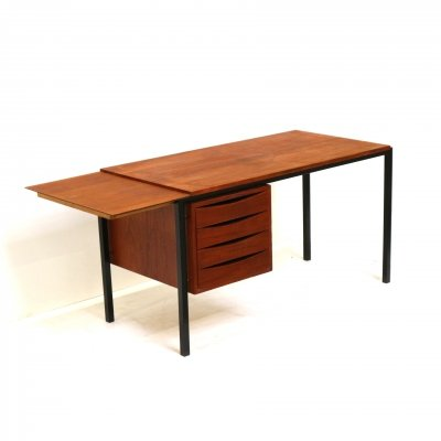 Vintage desk with drawers & extendable top, 1960s