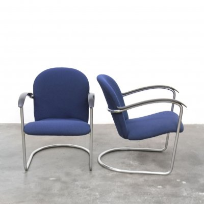 Pair of Model 414 arm chairs by W. Gispen for Gispen, 1930s